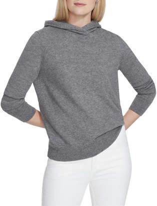 Lafayette 148 New York Merino/Cashmere Hoodie Sweater