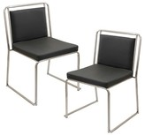 Lumisource Cascade Contemparary Stainless Steel Dining Chairs (Set of 2)