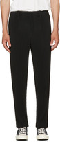 Homme Plissé Issey Miyake Black Straight-leg Classic Pleats Trousers