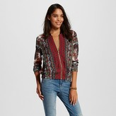 Women's Printed Bomber Red - Xhilaration (Juniors')