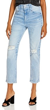 Aqua Yoke Detail Distressed Jeans in Light Wash - 100% Exclusive