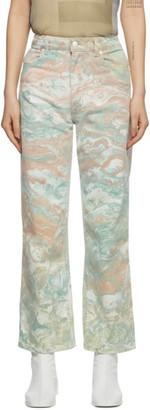 Eckhaus Latta Multicolor Marble Wide-Leg Jeans