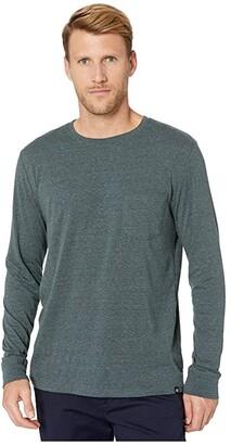 Threads 4 Thought Tri-Blend Long Sleeve Pocket Tee (Heather Black) Men's T Shirt