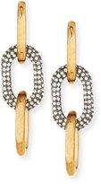 Lele Sadoughi Two-Tone Pavé Link Drop Earrings