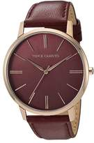 Vince Camuto Women's Rosetone Stainless Steel Leather Strap Watch