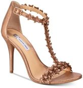 INC International Concepts Women's Rosiee T-Strap Embellished Evening Sandals, Only at Macy's