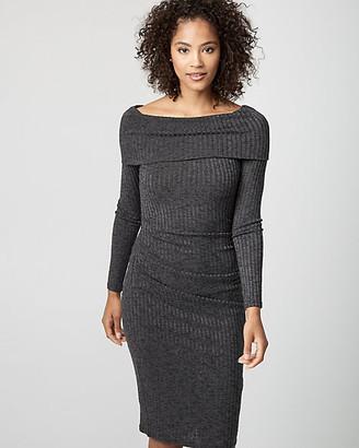 Le Château Rib Knit Sweater Dress