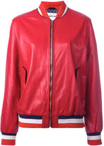 Michel Klein bomber jacket - women - Silk/Leather - 38