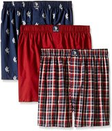 U.S. Polo Assn. Men's 3-Pack Woven Boxer Gift Set