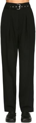 J.W.Anderson High Waist Belted Wool Gabardine Pants