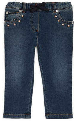 Dolce & Gabbana Kids Studded Skinny Jeans (3-30 Months)