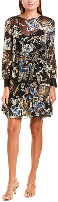 Tory Burch Burnout Silk-Blend Shift Dress