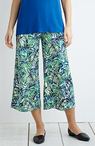 J. Jill Wearever Smooth-Fit Wide-Leg Print Cropped Pants