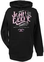 John Deere Black & Pink Glitter Hoodie - Plus Too