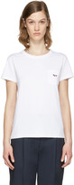MAISON KITSUNÉ White Fox Patch T-shirt