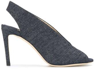Jimmy Choo Shar 85 denim sandals