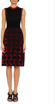Bottega Veneta Sleeveless Knit A-Line Dress, Blue/Red