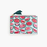 J.Crew Medium pouch in watermelon print