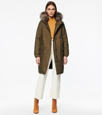 Andrew Marc Weeble Parka With Fur Trim