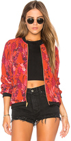 Beach Riot Babe Bomber in Red. - size L (also in M,S)