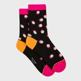 Paul Smith Women's Black 'Shadow Spot' Socks