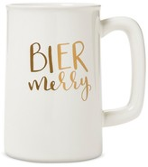"Threshold Bier Merry"" Beer Mug 20oz Stoneware White"