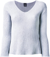 Lorena Antoniazzi v-neck jumper - women - Cotton/Polyester - 40
