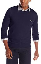Lacoste Men's Classic Long Sleeve Cotton Jersey Crew Neck Sweater