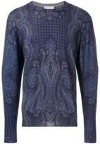 Etro mixed paisley print sweater