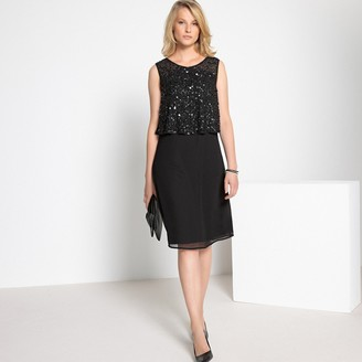 Anne Weyburn Sparkly Sleeveless Shift Dress