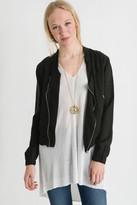 Blank Asymmetric Zip Lightweight Jacket