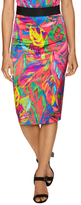Milly Cotton Floral Print Pencil Skirt