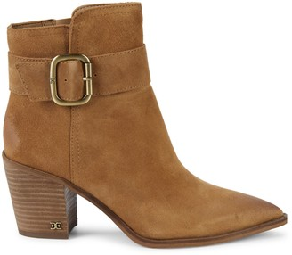 Sam Edelman Leonia Buckled Suede Booties
