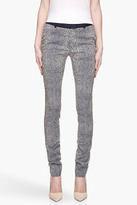 Preen Navy and cream embroidered Stringray trousers