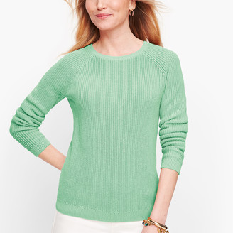 Talbots Pima Cotton Shaker Stitch Sweater
