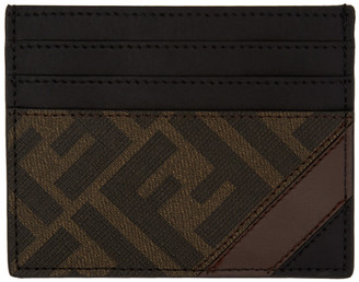 Fendi Black and Brown Forever Card Holder