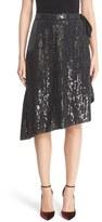 Diane von Furstenberg Brenndah Asymmetrical Sequin Wrap Skirt
