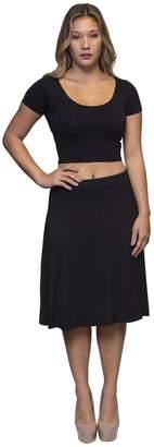 Karen Michelle Cotton Swing Skirt