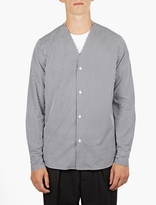 Marni Striped Cotton Collarless Shirt