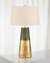 John-Richard Collection John Richard Collection Charcoal Gold Glass Table Lamp