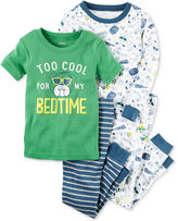 Carter's 4-Pc. Too Cool For My Bedtime Pajama Set, Baby Boys (0-24 months)