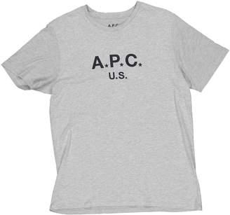 A.P.C. Grey Cotton T-shirts