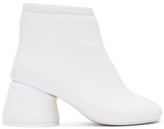 MM6 MAISON MARGIELA White Padded Ankle Boots