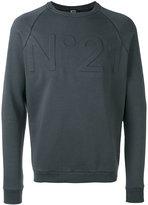 No.21 logo sweatshirt - men - Cotton/Polyamide - S