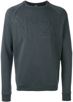 No.21 logo sweatshirt - men - Cotton/Polyamide - XS