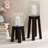 west elm Wood Leg Pillar Candleholders