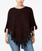 Style&Co. Style & Co. Plus Size Fringe Poncho Sweater, Only at Macy's