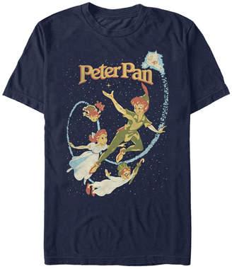 Tinkerbell Disney Men Peter Pan Darling Flight Vintage Short Sleeve T-Shirt