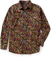 Daniel Cremieux Long-Sleeve Paisley Woven Shirt