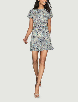 Reiss Bethan ditsy-print crepe mini dress